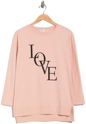 C&C California Fleece Graphic Tunic Sweater