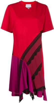 Koché colour-block T-shirt dress