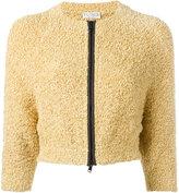 Brunello Cucinelli cropped zipped cardigan - women - Cotton/Polyamide - L