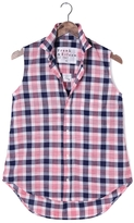Frank And Eileen Womens Fiona Sleeveless Check Chambray Shirt