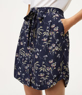 LOFT Daisy Tie Waist Button Skirt