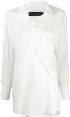 FEDERICA TOSI Checked Wrap Blouse