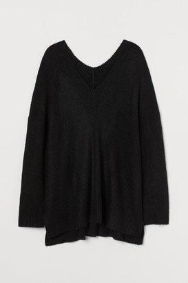 H&M H&M+ V-neck Wool-blend Sweater