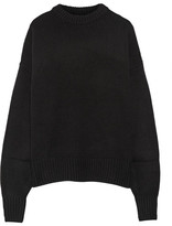 The Row Ophelia Oversized Wool And Cashmere-blend Sweater - Black