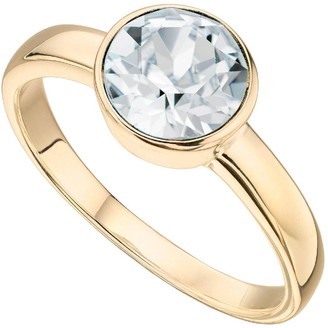 The Love Silver Collection Swarovski Birthstone Gold Plated Silver Ring