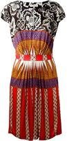 Etro multiprint flared keyhole panel dress - women - Polyamide/Acetate/Viscose - 42