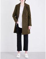 Topshop Crombie double-breasted felt coat