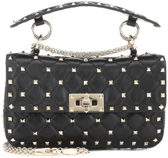 Valentino Rockstud Spike leather shoulder bag