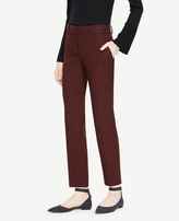 Ann Taylor The Ankle Pant In Crosshatch Double Cloth - Kate Fit