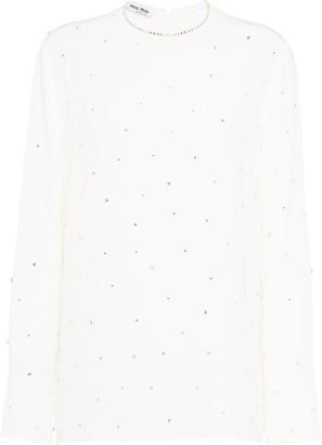 Miu Miu Crepe de chine crystal blouse