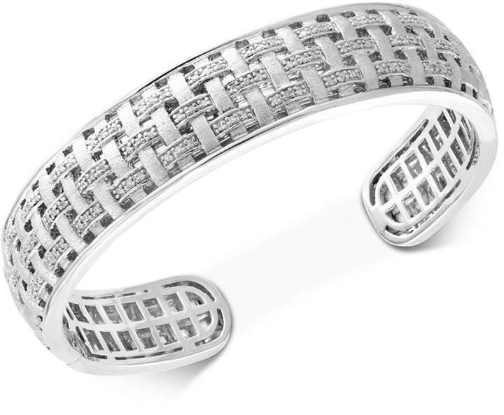 Effy Diamond Woven Bangle Bracelet (1/3 ct. t.w.) in Sterling Silver