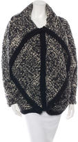 Thakoon Wool-Blend Shawl Collar Cardigan