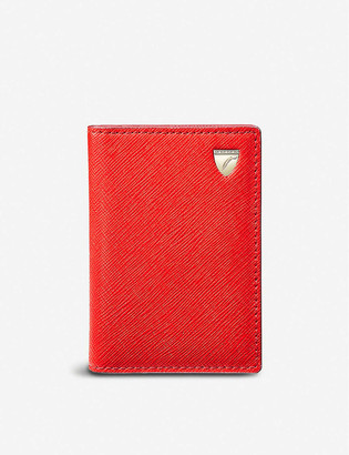 Aspinal of London Double Fold leather cardholder