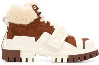 Dolce & Gabbana Shearling Trekking Boots