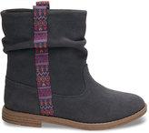 Toms Castlerock Grey Suede Youth Laurel Boots