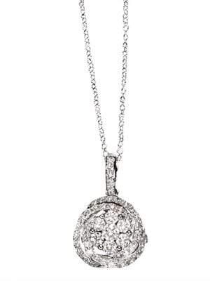 Effy Bouquet 14Kt White Gold Diamond Pendant