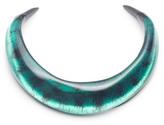 Alexis Bittar Matte Black Molten Collar Necklace