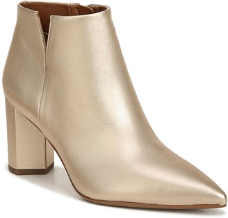 Franco Sarto Pointed Toe Block Heel Ankle Booties - Nest