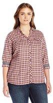 Columbia Women's Plus-Size Simply Put II Flannel Shirt Plus Size