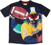 Fendi Oversized Football Cotton Jersey T-Shirt