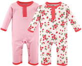 Hudson Baby Strawberries Union Playsuit - Set of Two