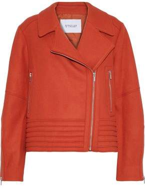 Derek Lam 10 Crosby Wool And Cashmere-blend Biker Jacket