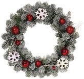 Snowflake & Ornament Christmas Wreath