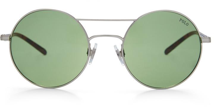 Ralph Lauren Double-Bridge Round Sunglasses
