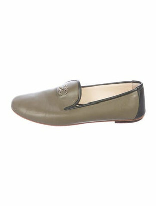 Chanel Leather Loafers Green