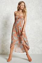 Forever 21 FOREVER 21+ Strapless Floral Print Dress