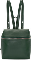 Kara Green Leather Small Backpack