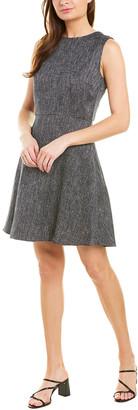 Theory Dart Linen-Blend A-Line Dress