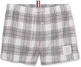 Thom Browne Checked Cotton Boxer Shorts