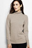 Classic Women's Merino Wool Turtleneck Sweater-White