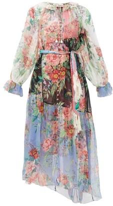 Zimmermann Bellitude Floral-print Silk-chiffon Maxi Dress - Multi