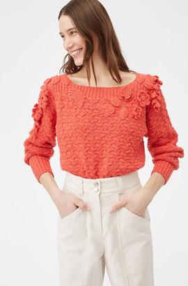 Rebecca Taylor Floral Embellished Pullover