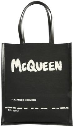 Alexander McQueen Painterly Logo Print Tote