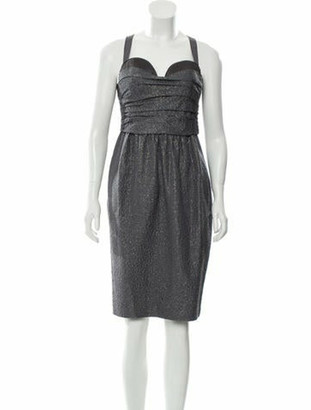 Proenza Schouler Wool Metallic Dress Grey