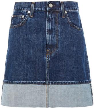 Helmut Lang Fold-over Denim Mini Skirt