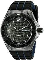 Technomarine Men's Quartz Watch with Black Dial Analogue Display and Black Silicone Strap TM-115183