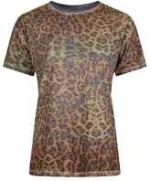 Topshop Acid leopard tee