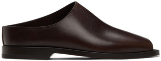 Lemaire Brown Leather Flat Mules