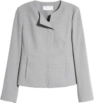 HUGO BOSS Jaina Stretch Wool Crop Jacket