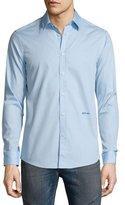 Just Cavalli Solid Long-Sleeve Woven Dress Shirt, Light Blue