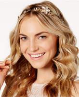 Josette Rhinestone Metallic Flower Headband