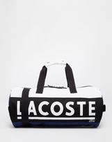 Lacoste Logo Barrel Bag - White