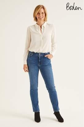 Boden Womens Blue Slim Straight Jeans - Blue