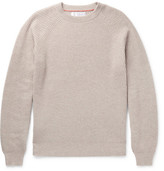 Brunello Cucinelli Ribbed Cashmere Sweater - Beige