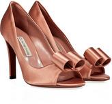 LAutre Chose Powder Pink Silk Satin Peep-Toe Pumps
