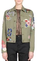 Saint Laurent Love Patch Khaki Jacket